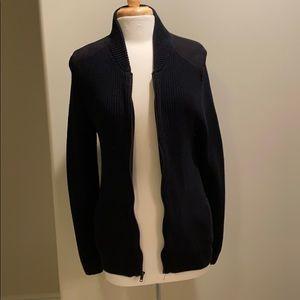 Black jacket suede shoulder pads